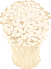 イラスト素材 えのきだけ エノキ きのこ キノコ 秋 料理 ベクター