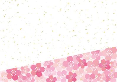 和風 桜 POP チラシ フレーム 背景 ベクター 23