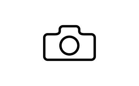 シンプルなカメラのアイコン、白背景