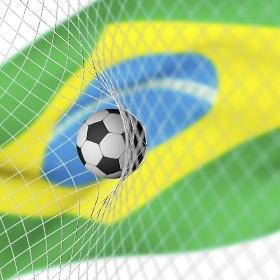 ブラジルの国旗とサッカー