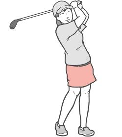 ゴルフ 女性 若い女性 スカート