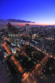 西新宿日没残照俯瞰