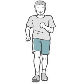 散歩 ジョギング 男性 中年男性