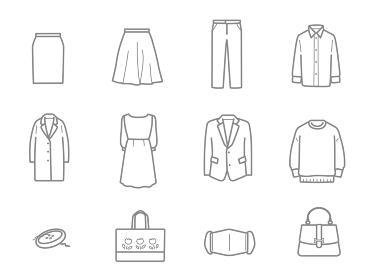 洋服リフォーム店 サービス内容のアイコンセット