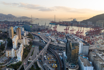 Kwai Tsing, Hong Kong, 14 February 2019:- Container Terminals in Hong Kong