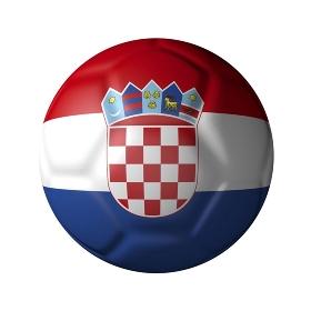 クロアチアのサッカーボール型国旗