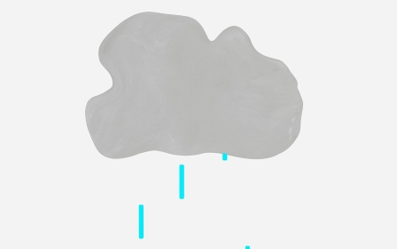 雨雲から落ちる雨の雫
