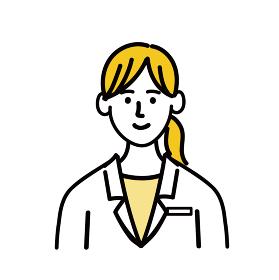 医師 医者 女性 ポップ 医療 表情