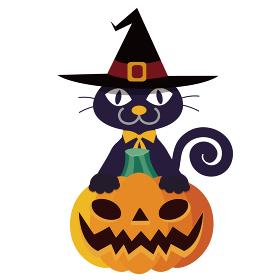 ハロウィン黒猫