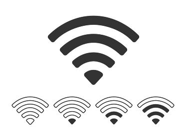 Wi-Fi電波のアイコン