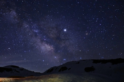 立山連峰 満天の星空と天の川