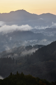 国見ヶ丘からの夜明け