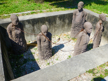 タンザニア・ザンジバル島のストーン・タウンにある奴隷の歴史跡地