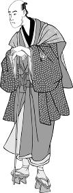 浮世絵 歌舞伎役者 その72 白黒