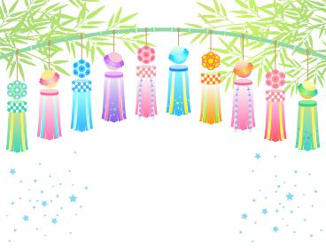 七夕祭りの飾りのイラスト