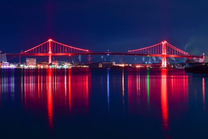 若戸大橋夜景(福岡県北九州市)