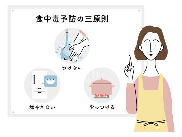 食中毒予防の三原則/主婦(日本語)