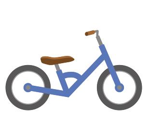 幼児用キックバイク_ヘルメットバランスバイクのイラスト自転車運動のイメージ