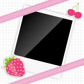 scrapbook elements with photos frame vector illustration