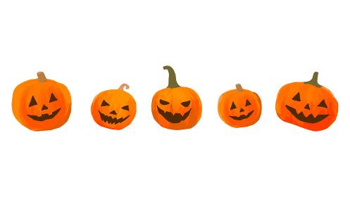 ハロウィンかぼちゃ ジャックオーランタン メッセージカード 背景