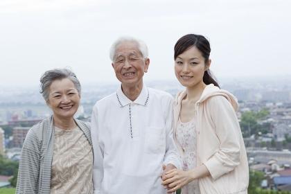 シニア夫婦と孫