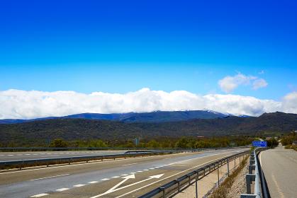 Via de la Plata road autovia A-66 in Salamanca E-803 of Spain