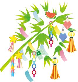 七夕:星空 星 夜空 背景 七夕飾り 笹 短冊 願い事 飾り 折り紙