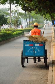 中国の清掃風景
