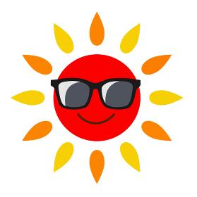 サングラスと太陽 アイコン
