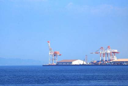 北九州市門司区の太刀浦コンテナターミナルの作業風景 第一ターミナル