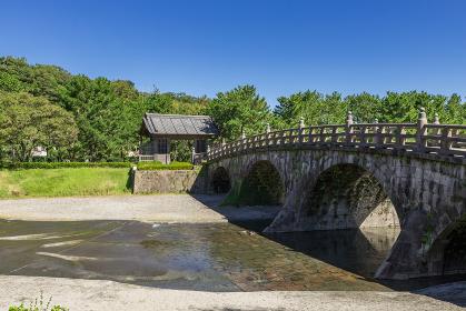 石橋記念公園西田橋と西田橋御門 鹿児島県鹿児島市