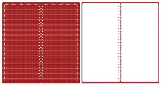 スケッチブック リングノート 表紙とページのセット イラスト ベクター ※A4の三つ折りサイズ