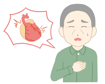 動悸 心臓付き 高齢男性(線無し)