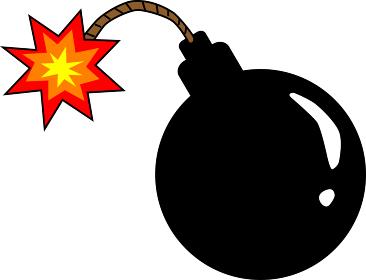 シンプルな爆弾のイラスト素材