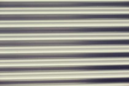 close up of aluminum metal garage door backdrop