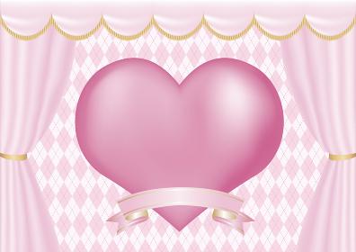 バレンタインデー ホワイトデー フレーム ハート コピースペース 背景 イラスト素材