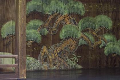 能舞台の松の背景