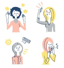髪の悩み 女性 セット