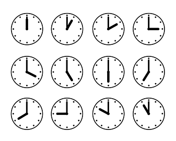 時計アイコンイラストセット素材