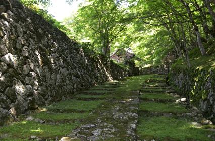 百済寺 表門への参道 滋賀県東近江市