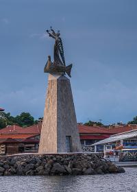 Monument to St. Nicholas in Nessebar, Bulgaria