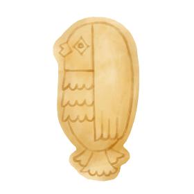 アマビエ型クッキーのイラスト