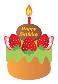 苺と抹茶のお誕生日ケーキ