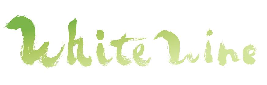 「WhiteWine」という手書き文字素材