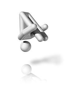 Gymnastics Trampoline 3D symbol