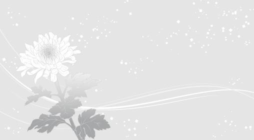 上品な菊の花の背景イラスト(グレイ)