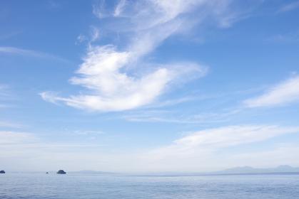 有明海と空に浮かぶ雲