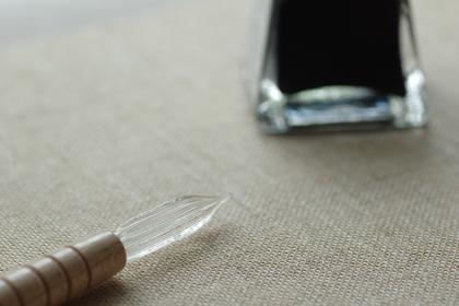 ガラスペン(ディップペン、つけペン)とボトルインク