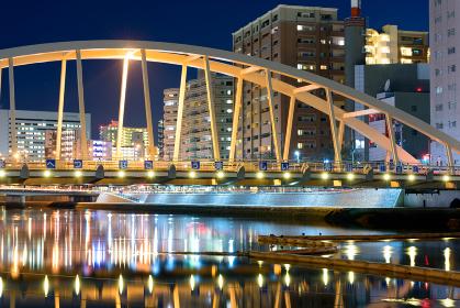 紫川鉄の橋夜景