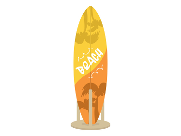 サーフボードのイラスト